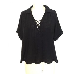 ECOTE Black Blouse/M